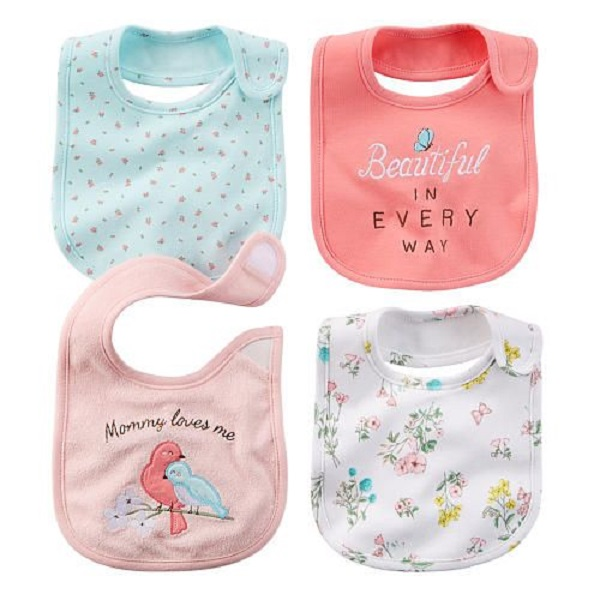 100% Cotton Organic waterproof Baby bibs