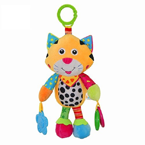 Baby Stroller Toys Soft Baby Rattles with Bells Teether Toy Gift