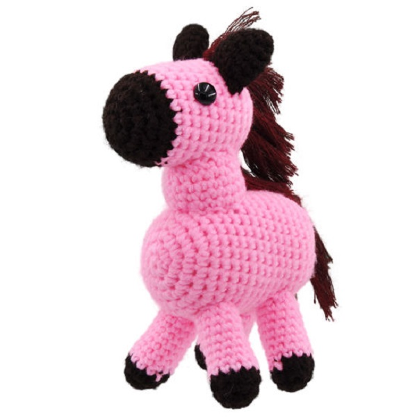 Wholesale factory direct China handmade knitted Crochet horse soft toys
