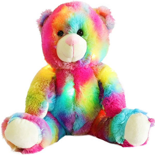 Custom colorful Rainbow design Soft Plush Teddy bear Toy